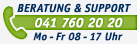 Beratung & Support: 041 760 20 20, Mo-Fr 08-17 Uhr
